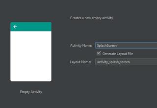 Cara Membuat Welcome Screen atau Splash Screen Android