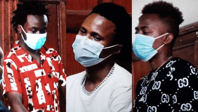 Weezdom, Bahati and Peter Blessing in Court