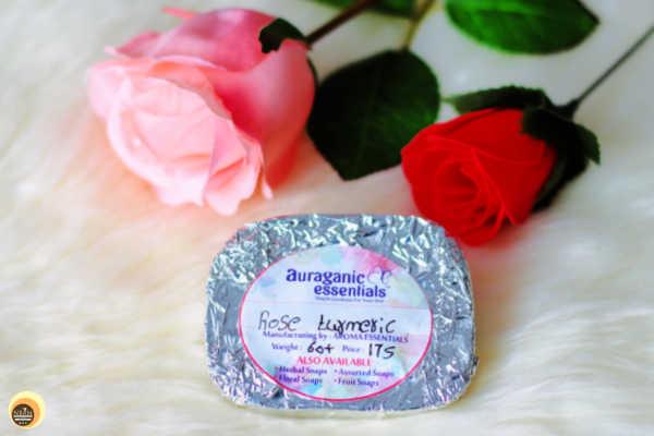 Aroma Essentials Rose & Turmeric Soap Packaging