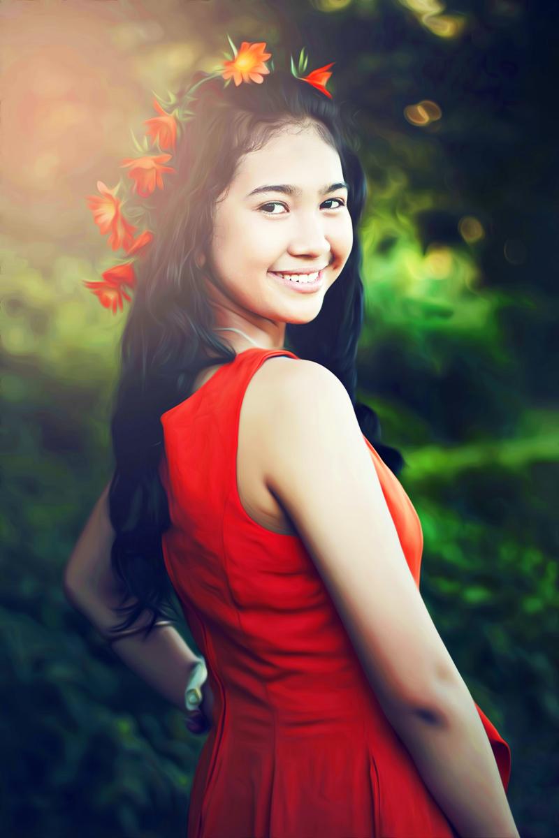 Hunting Foto Model Viona Utami  Crown Bunga