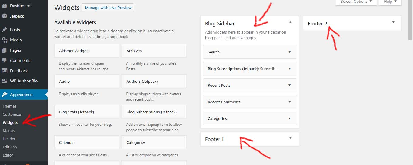 Widgets - How to start a blog