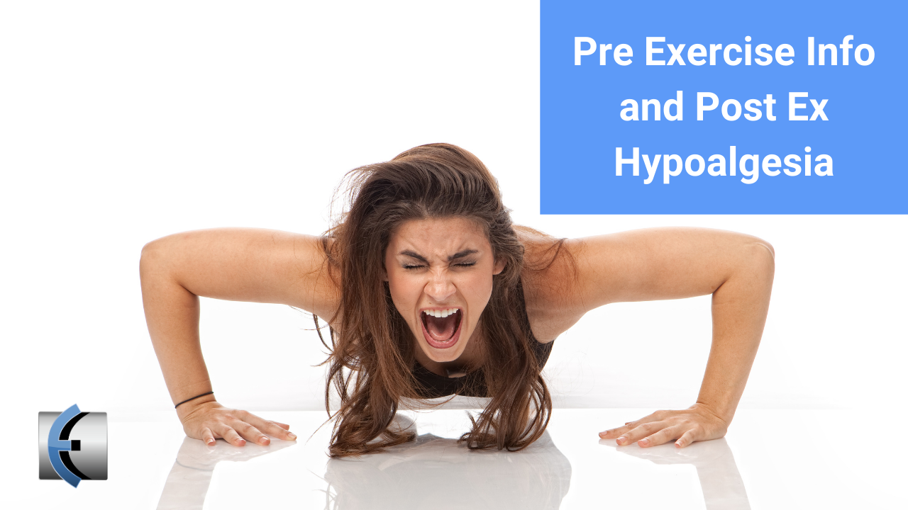 Influence of Pre-exercise Information on Hypoalgesia after Exercise - modernmanualtherapy.com