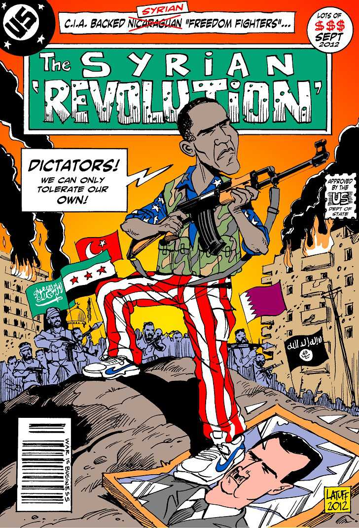 Syrian Revolution by latuffcartoons.wordpress.com