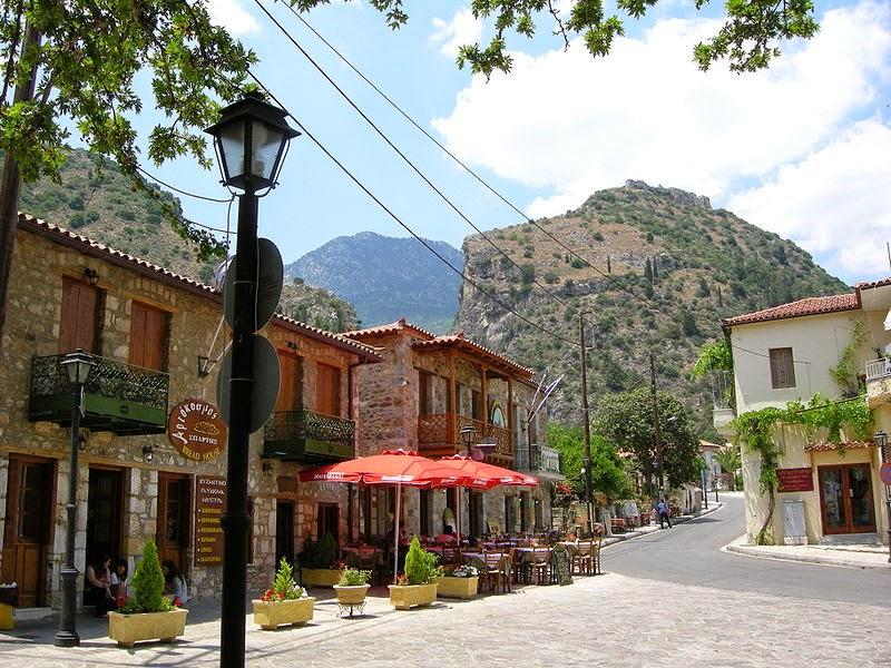 Modern village of Mistras