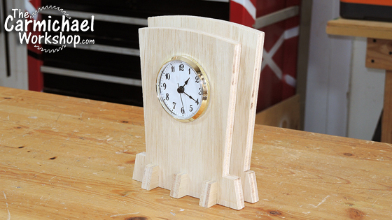 The Carmichael Workshop Wooden Clock