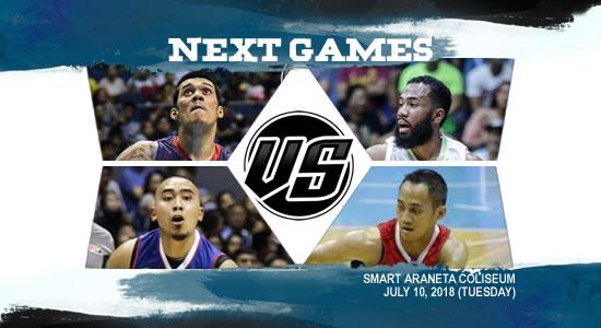 List of PBA Games: July 10 at Smart Araneta Coliseum 2018 PBA Commissioner's Cup
