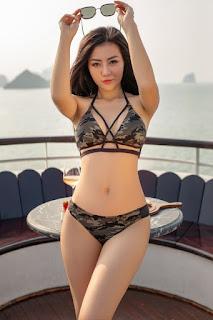 """diễn viên Thanh Hương """"đốt mắt"""" người nhìn khi mặc bikini khoe vòng 3 gần 1m"""
