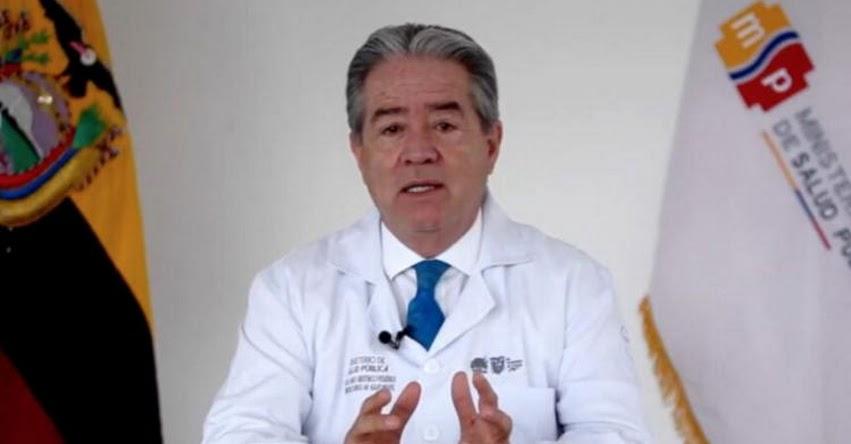 Ministro de Salud de Ecuador renuncia por escándalo de vacunas VIP a familiares