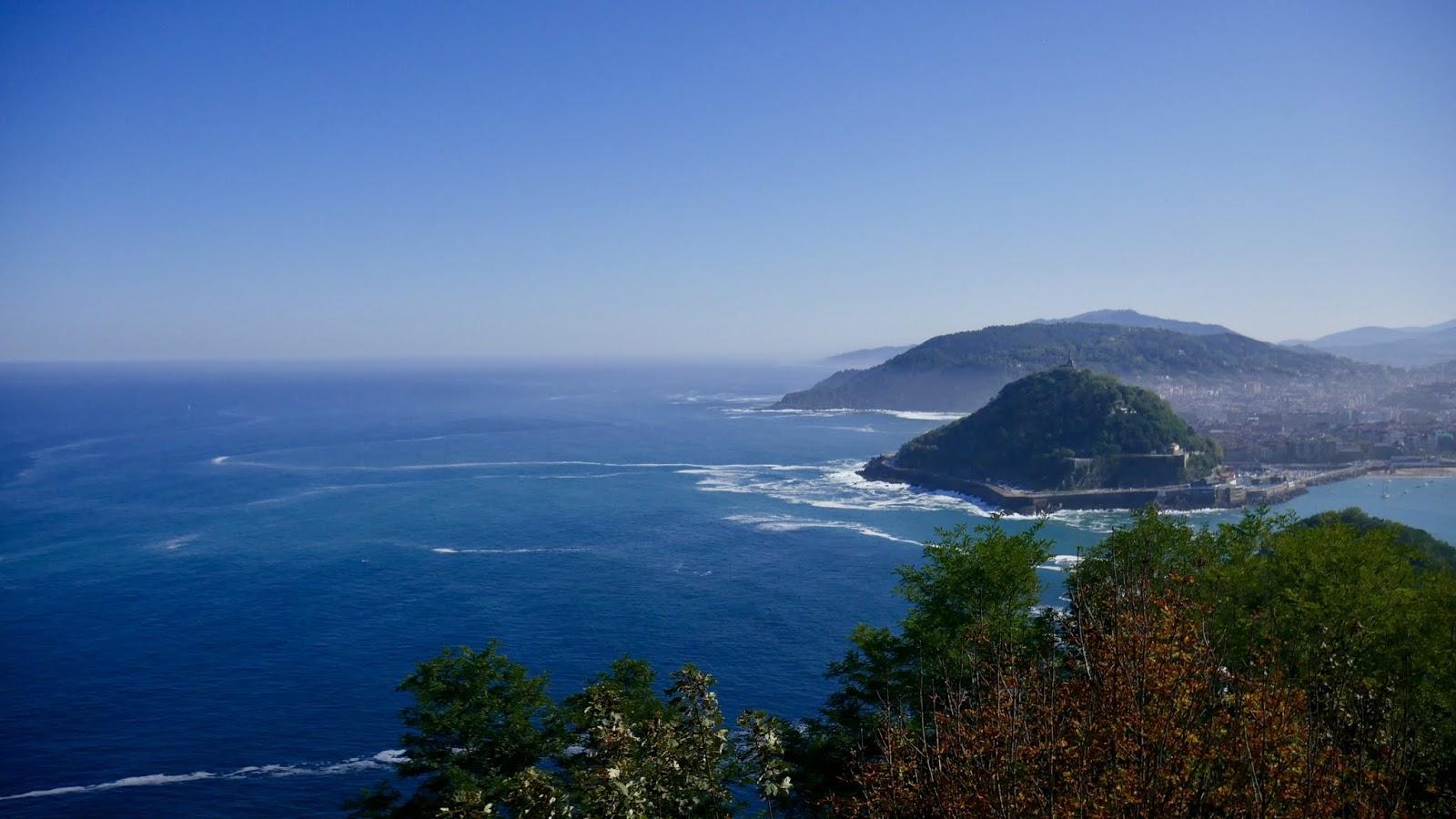 Vue depuis le Monte Igueldo San Sebastian Pays Basque Espagne