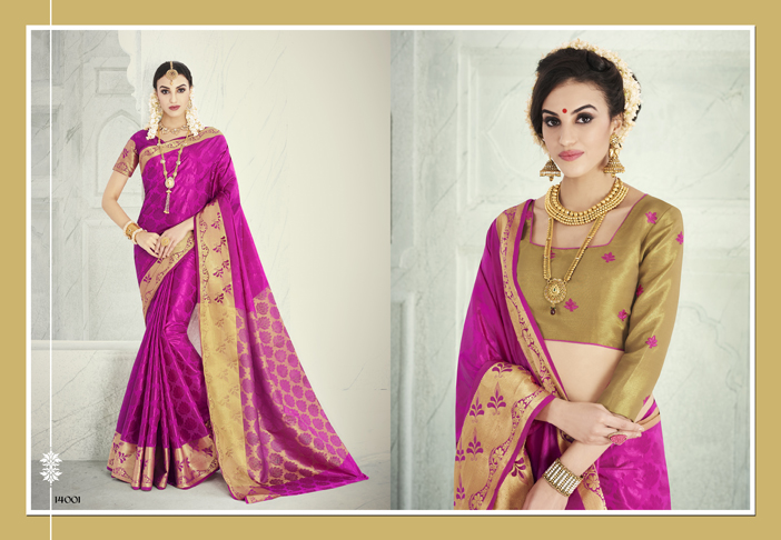 L.T – PATTU SILK-Designer Latest fashion Heavy Banarasi Silk Saree