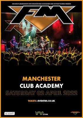 FM live at Manchester Club Academy - 2 April 2022 - poster