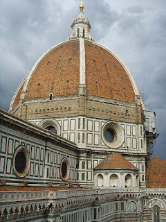 Brunelleschi's huge dome of Florence Cathedral, which Cosimo supported