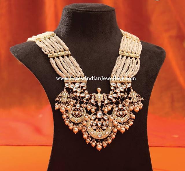 Enamel Work Pearl Jewellery