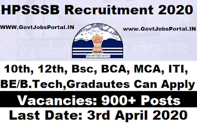 HPSSSB Recruitment 2020