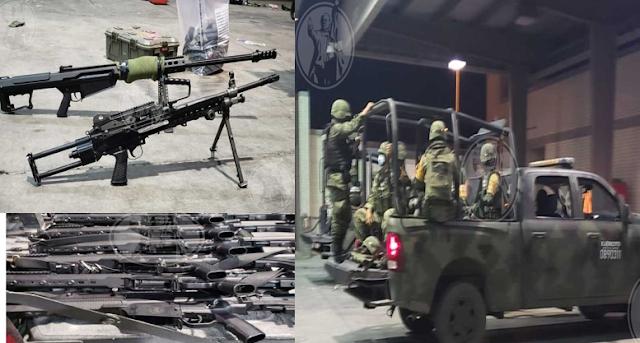 Fotos: Así andaban armados hasta los dientes los 14 Militares que cruzaron frontera con EU por error