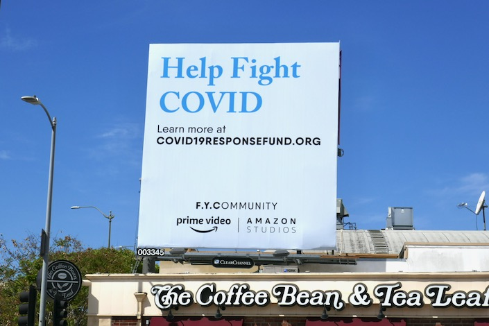 Help fight COVID Amazon FYCommunity billboard