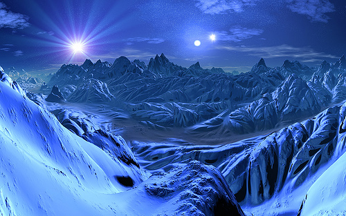 Alien Planet Windows 7 3d Wallpaper Ice World Wallpaper Amp Pictures