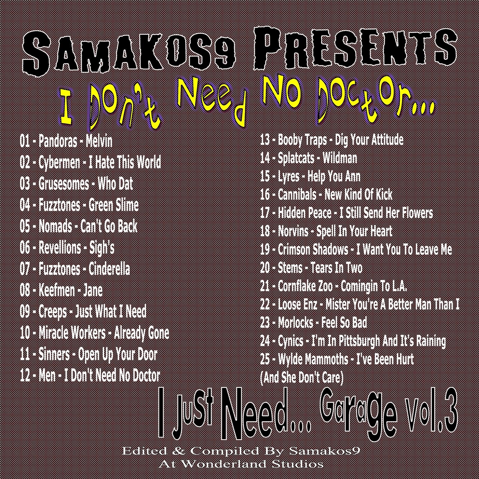 BOOZETUNES: Samakos9 Presents - I Don't Need No Doctor Vol.3