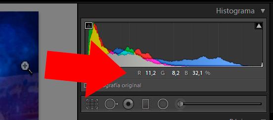 porcentajes de los canales RGB