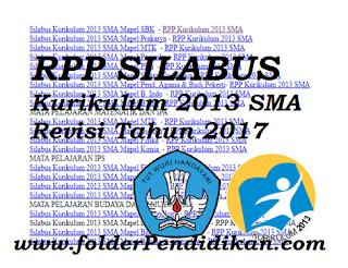 RPP SILABUS Kurikulum 2013 SMA Revisi Tahun 2017 Terbaru