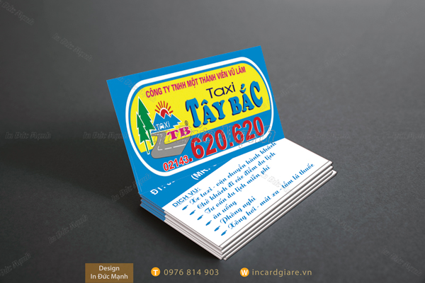 Mẫu card visit taxi Tây Bắc
