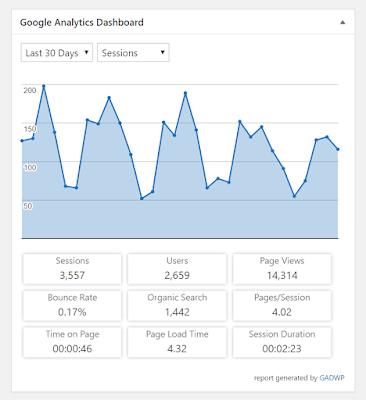 google analytics dashboard for wp GADWP