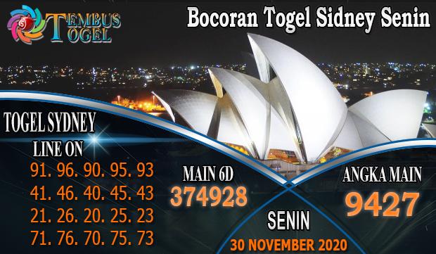Bocoran Togel Sidney Senin 30 November 2020 CaraJackpot