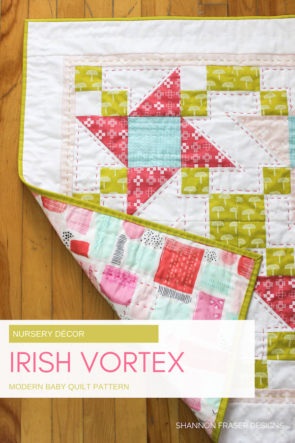 Baby Irish Vortex Quilt by Shannon Fraser Designs