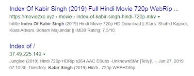 index of Kabir Singh