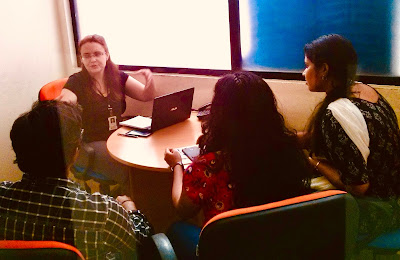 Jennifer Kumar consults with global teams