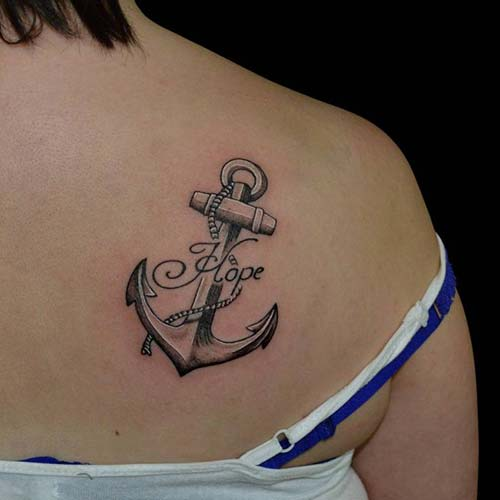shoulder back anchor tattoo arka omuz çapa dövmesi