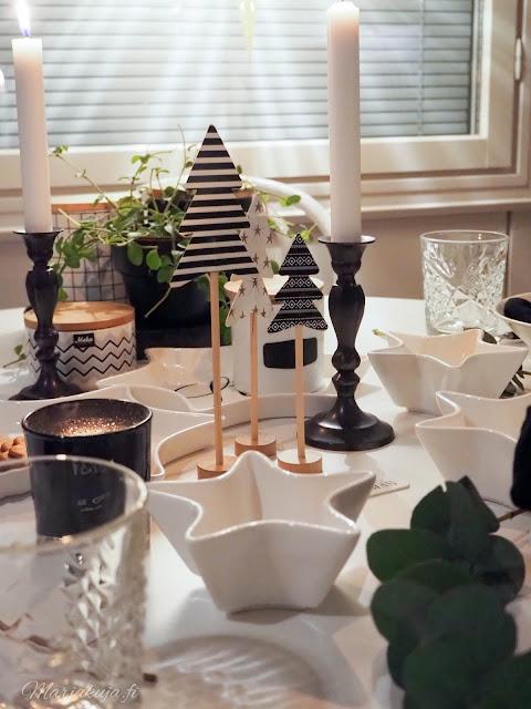 joulukoti joulu sisustus koti keittiö kattaus tähti