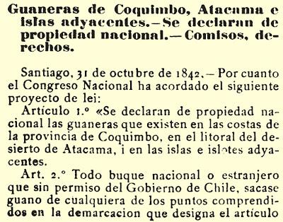 Resultado de imagen de guaneras de coquimbo 1842