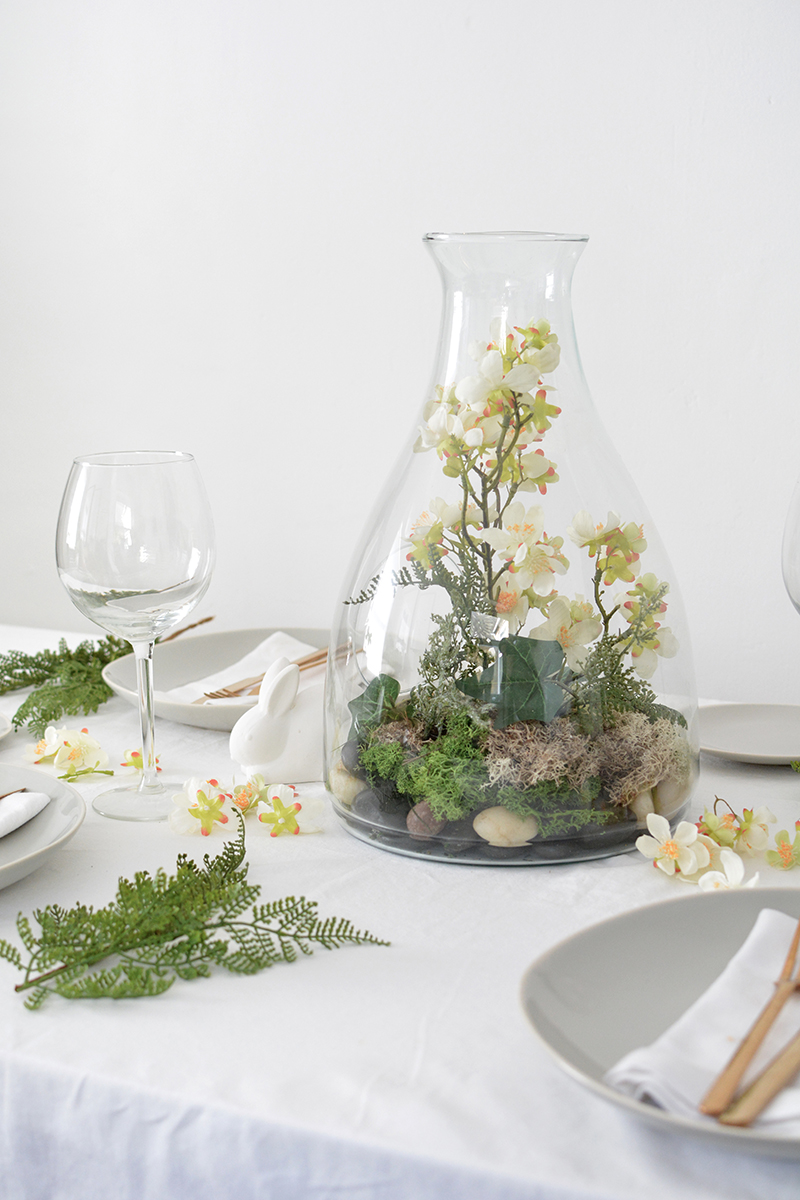 spring easter centerpiece
