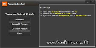 http://www.gsmfirmware.tk/2017/05/Mi-Account-Unlock-Tool.html
