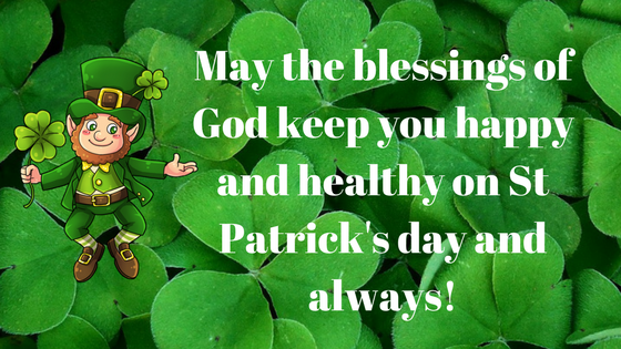 St Patrick's day 2018 wishes