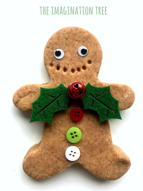 No-Cook Gingerbread Play Dough Recipe