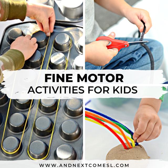 Fine motor activities for toddlers and preschool
