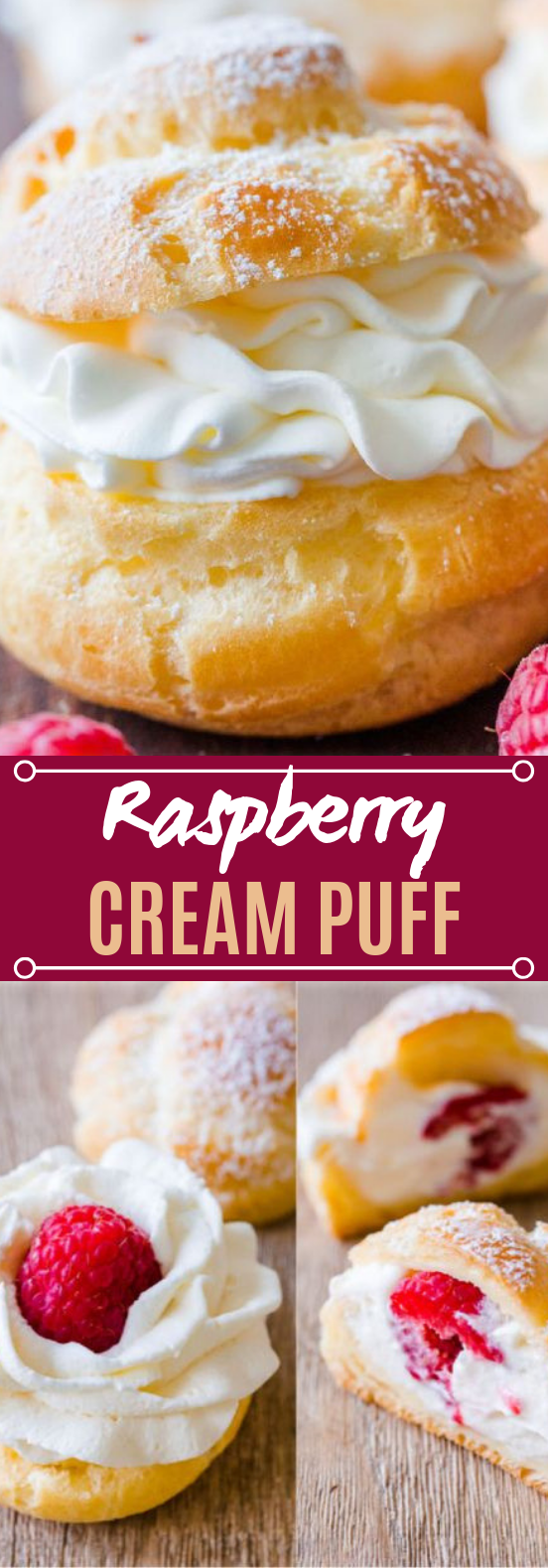Raspberry Cream Puffs #cake #desserts