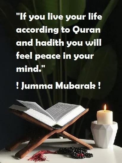 For peace of mind jumma mubarak
