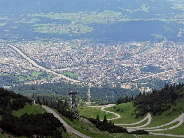 The city of Innsbruck as seen from Seegrube