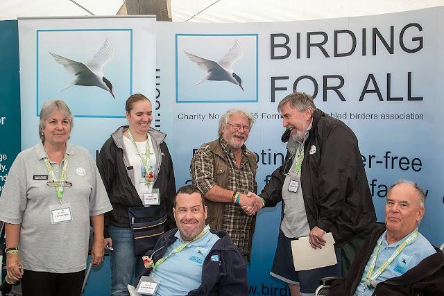 Bill Oddie and the BFA team (minus me)