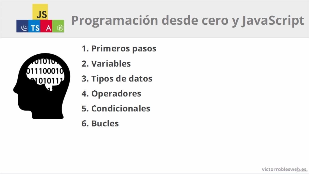 Programación desde cero y JavaScript