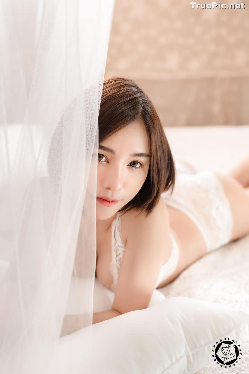 Image Thailand Model - Papoy Kuanpradit - Sexy White Lingerie - TruePic.net - Picture-17