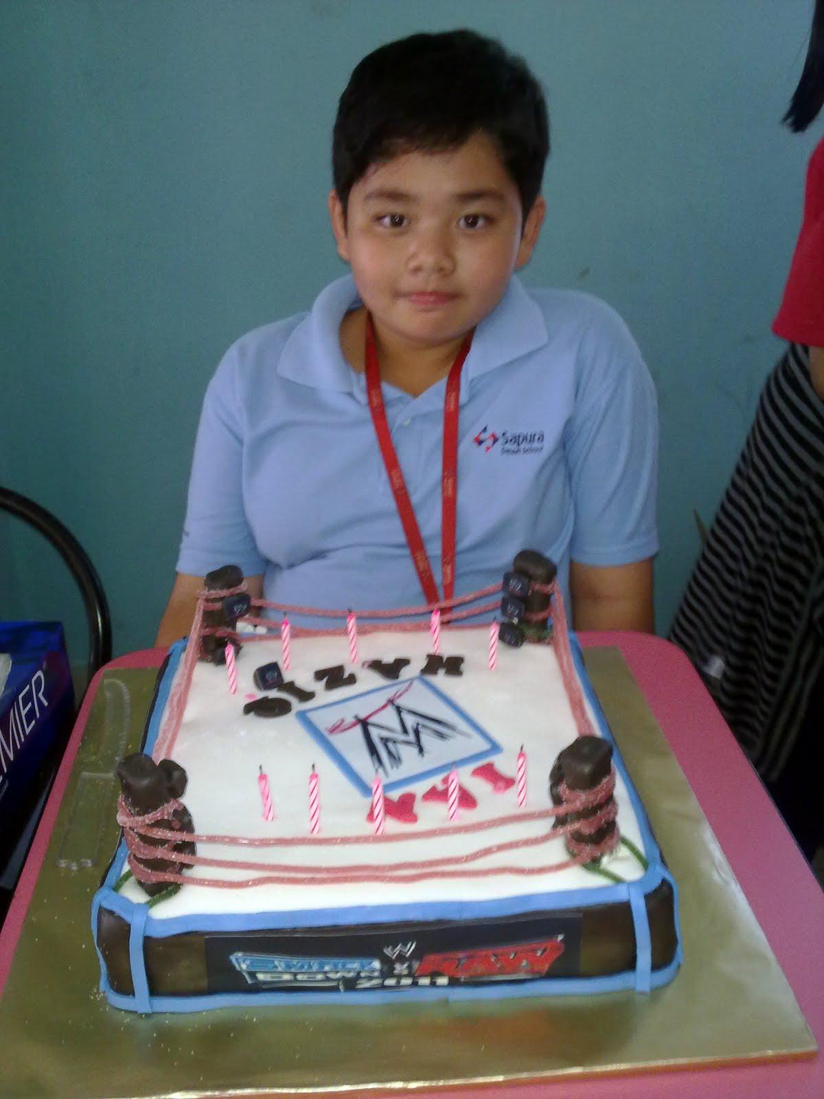 Wwe Bday Cakes For Kak Jasmin Hamid My Cup Cakes Fantasy