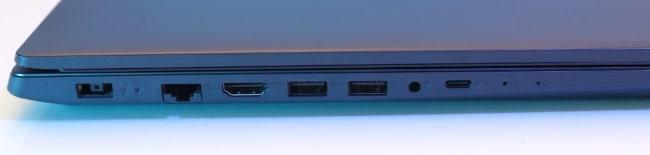 Ports on the left side of Lenovo IdeaPad L340 laptop.