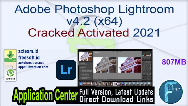 Adobe Photoshop Lightroom v4.2 (x64) Cracked Activated 2021