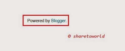 How to Remove Powered by Blogger in Blogger