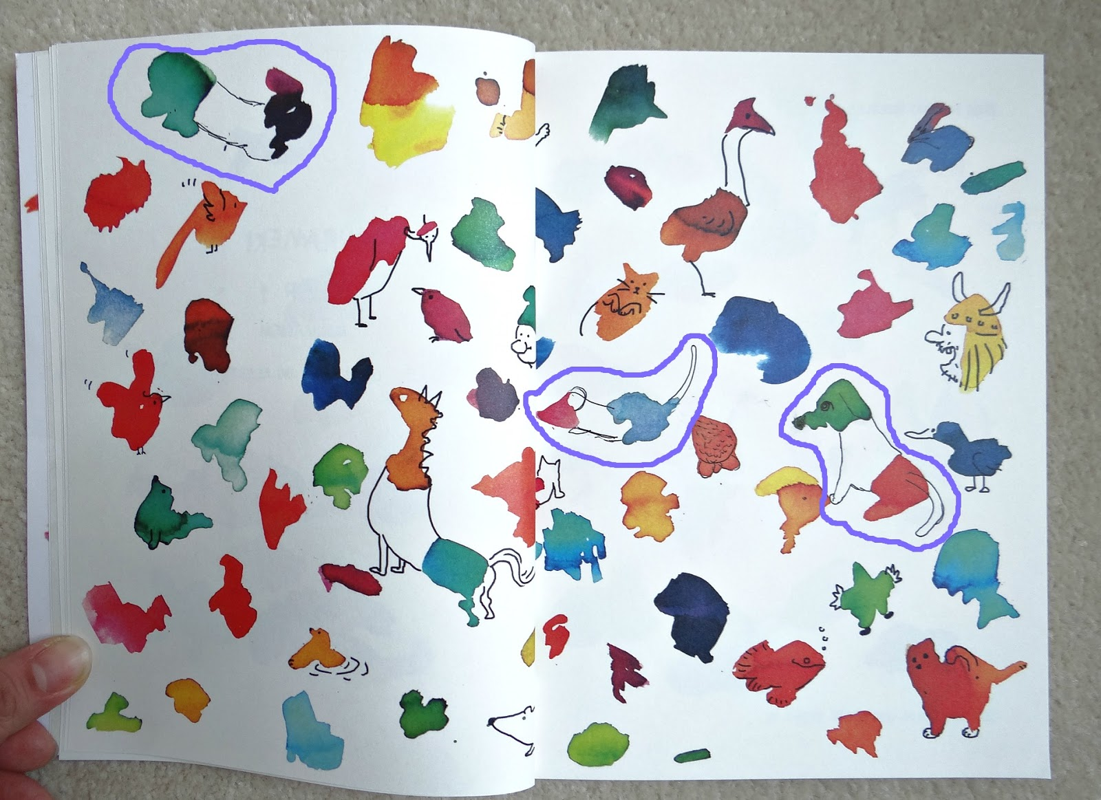 Hirameki Drawing Book, Doodling Book, Inkblot drawing