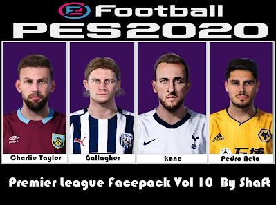 PES 2021 Premier League Facepack Vol 10 by Shaft
